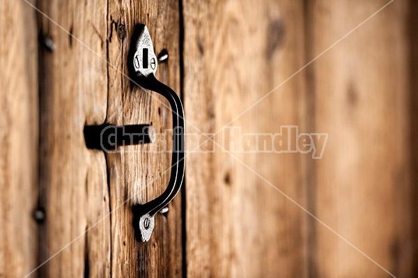 Old barn door latch