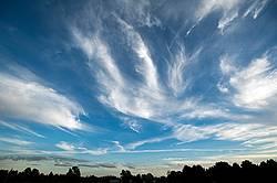 Big bold colorful cloud filled sky