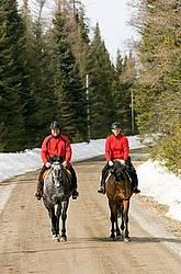 Horseback Riding in the Winter in Ontario Canada