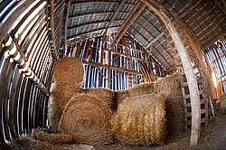 Hayloft in old style barn