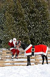 Santa Claus and his Horse