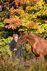 Photo of a woman and her horse