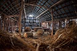 Old barn hayloft