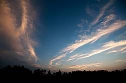 Cloud filled sky during sunrise