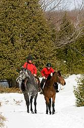 Horseback Riding in the Winter in Ontario Canada
