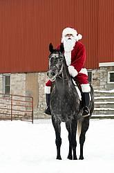 Santa Claus riding a horse