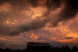Photo of dramatic colored sky and clouds